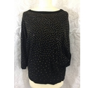 Phase Eight Gold studded batwing top Black and gold Size: M