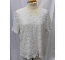 Eastex Short sleeved lacy top cream Size: 12