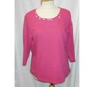 M & S 3/4 sleeved tee shirt Pink Size: 14