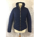 Tokyo Laundry Quilted slim fit jacket Navy Size: 10