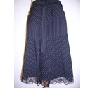Morgan Knee length skirt black pinstripe Size: 34