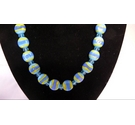 Blue and Yellow Bead Necklace