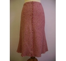 M&S Marks & Spencer knee length skirt pink tweed Size: 10
