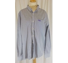 Superdry Striped Long Sleeve Shirt Blue and White Size: XXXL