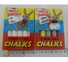Quaint Uncle Bobtails set of 2 coloured and white chalks