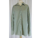 Paul Smith Striped Long Sleeve Shirt Green Size: L