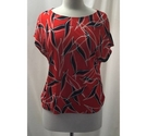 Betty&Co T shirt Blouse Red Size: 10