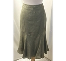 Kaliko Calf Length Skirt Olive Size: 12