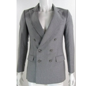"VINTAGE Gianni Apello 36"" Wool Suit Jacket Grey Pinstripe Size: S"