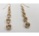 Divine Queenly Gold Plated Crystal Earrings