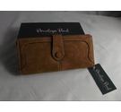 PENELOPE POND SUEDE PURSE BROWN Size: M