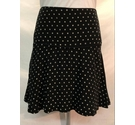 Jigsaw Skirt, Black, white, Size: 8