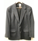 M&S Marks & Spencer Vintage Checked Jacket, Short Grey/Blue Size: L