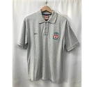 Liverpool FC Logo Polo Shirt Light Grey Size: S