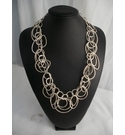 Modern Silver Colour Chain Necklace.