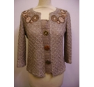 Per Una embellished cardigan brown Size: S