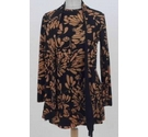 Unbranded Floral pattern tunic top Black brown Size: S