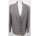 Planet Houndstooth Jacket Brown Size: L
