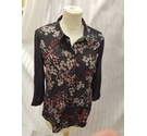 white stuff long sleeved blouse type top brown floral Size: 8