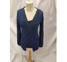 fat face cross over front top blue mix Size: 10