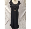 Ever Pretty longline sequin stunning dress black Size: 10