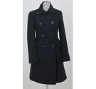 Warehouse double breasted overcoat navy Size: 6