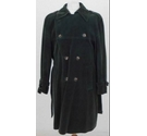 Jaeger Corduroy Trench Coat Green Size: L