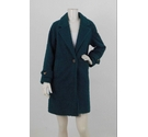 Stuart Peters Long Line Teddy Coat Forest Green Size: 18