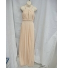 Pretty pale peach occasion dress by TNFC. Ideal for bridesmaid/party/evening wear. Size large .
