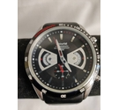 Accurist Black and Silver Chronograph Black/Red strap Size: medium