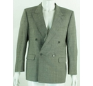 "VINTAGE Jaeger 40"" Nailhead Check Wool Jacket Black & White Size: M"