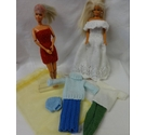 Handknitted bundle of Barbie/Cindy doll clothes