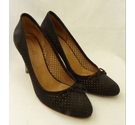 Hobbs Suede Court Shoes - VGC Black Size: 6.5