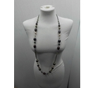 Various Shades of Purple Beads chain necklace