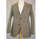 Harris Tweed vintage checked jacket brown check Size: S