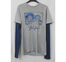 Fat Face T shirt grey/blue Size: S