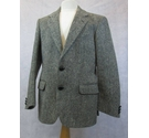 St Michael checked Donegal Tweed jacket black & white Size: M