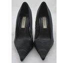 Dune Satin Court Shoes Black Size: 4