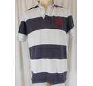 Howick Striped Rugby Shirt White and Navy Size: M