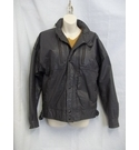 Nico Men's Leather Bomber Jacket Brown Size: M