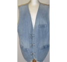 Armani Jeans Armani Jeans, Denim Waistcoat Light Blue Size: 44 UK