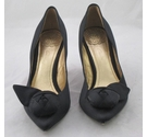 Clarks Satin Court Shoes Black Size: 6