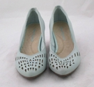 Hush Puppies Leather Court Shoes Mint Green Size: 4