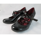 Hush Puppies court shoes black patent Size: 3