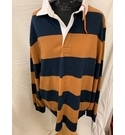 M&S Rugby Shirt Blue & Brown Size: XXL