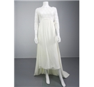 Handmade 70s Inspired Size 10 Ivory Lace Wedding Gown