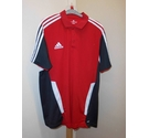 Adidas Sports polo top Red Size: XXL