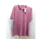 M&S Polo shirt Red Mix Size: L
