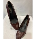 M&S Collection BLOCK HEEL COURT SHOES BROWN Size: 7.5