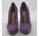 Hobbs High Heel Platform Courts Purple Size: 5.5